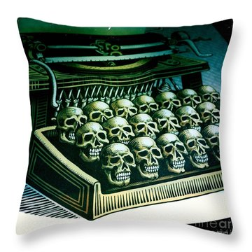 Typewriter With A Difference Throw Pillow by Nina Prommer