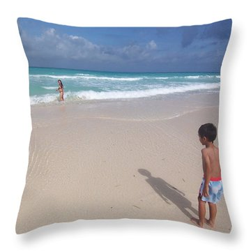 Typhoon In Boracay Throw Pillow by Timothy Lowry