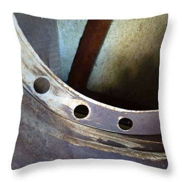 Typhoon Throw Pillow by Lin Haring