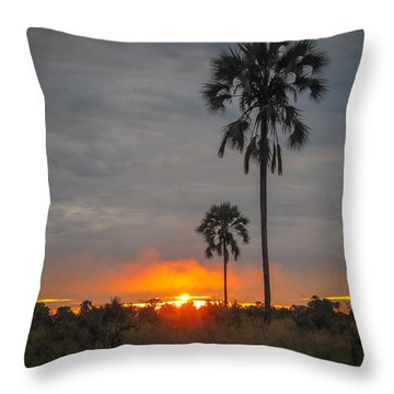 Typical African Sunset Throw Pillow