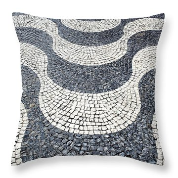Typical Portuguese Handmade Cobblestone Pavement Throw Pillow by Jose Elias - Sofia Pereira