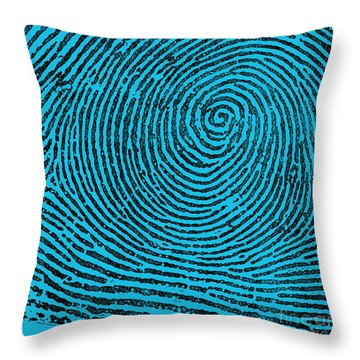 Typical Whorl Pattern, 1900 Throw Pillow by Science Source