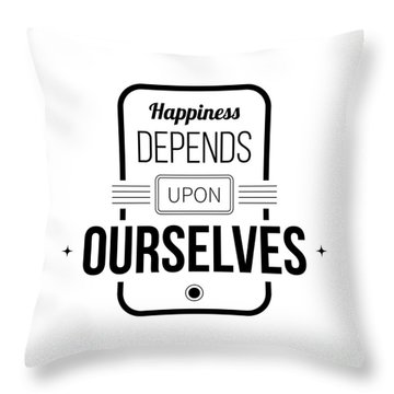 Typographic Throw Pillows