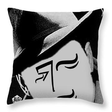 Typortraiture Humphrey Bogart Throw Pillow by Seth Weaver