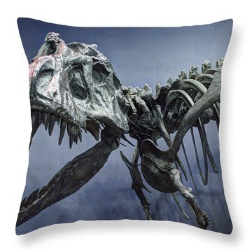 Tyrannosaurus Jane Throw Pillow