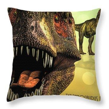 Tyrannosaurus Rex 4 Throw Pillow