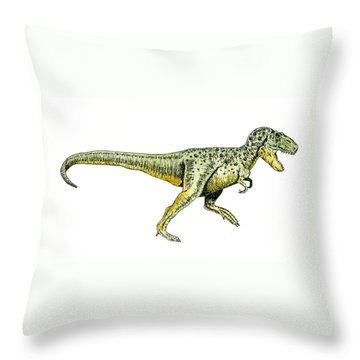 Tyrannosaurus Rex Throw Pillow by Michael Vigliotti