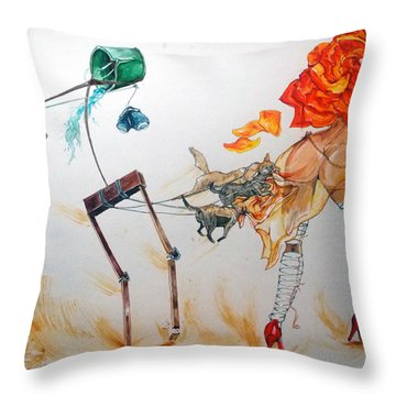 Tyrants Of Desire Throw Pillow