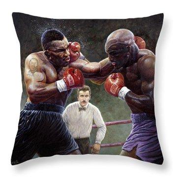 Tyson/holyfield Throw Pillow