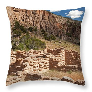 Tyuonyi Bandelier National Monument Throw Pillow