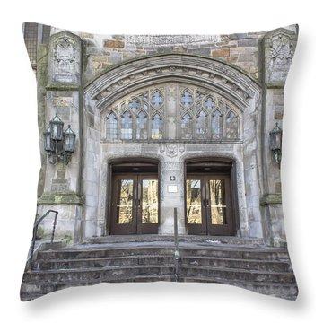 U Oof M Campus  Throw Pillow by John McGraw