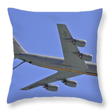 Throw Pillow featuring the photograph U S Air Force Flyover by DigiArt Diaries by Vicky B Fuller