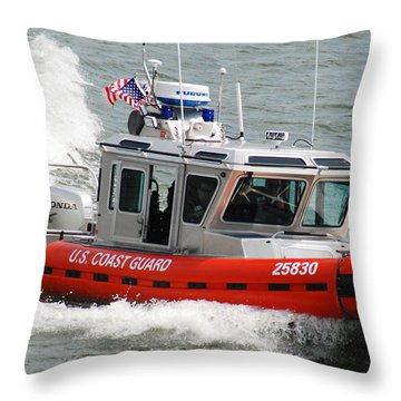 U. S. Coast Guard - Speed Throw Pillow by Janice Adomeit