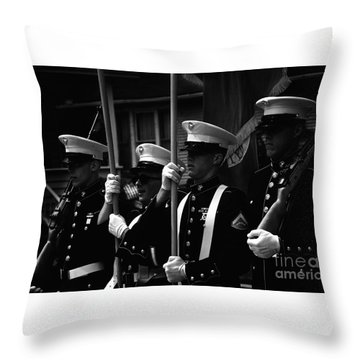 U. S. Marines - Monochrome Throw Pillow