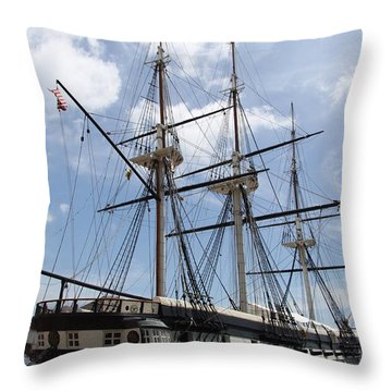 U S S  Constellation Throw Pillow by Christiane Schulze Art And Photography