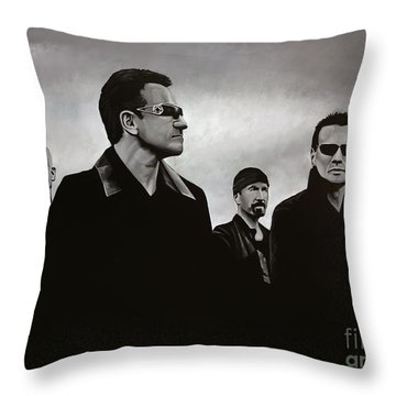 U2 Throw Pillow