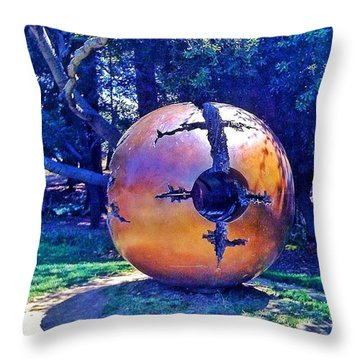 Uc Berkeley Orb For The Throw Pillow