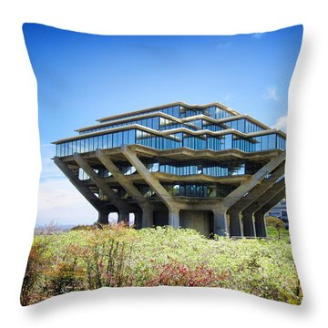 Throw Pillow featuring the photograph Ucsd Geisel Library by Nancy Ingersoll