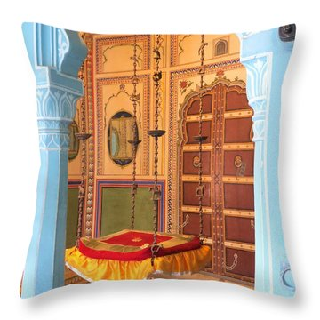 Udaipur Palace Swing Throw Pillow