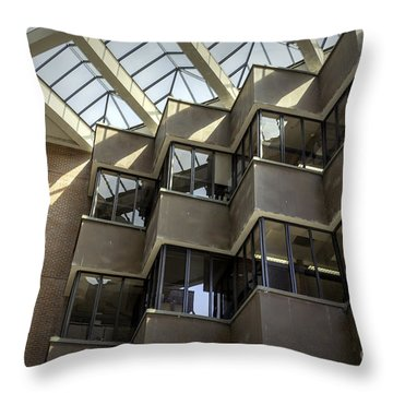 Uf Marston Science Library Accordian Window Wall Throw Pillow by Lynn Palmer