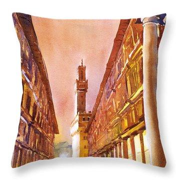 Uffizi- Florence Throw Pillow by Ryan Fox
