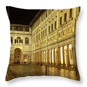 Uffizi Gallery Florence Italy Throw Pillow