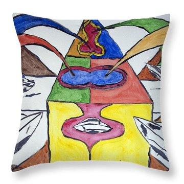 Ufo Base Throw Pillow by Stormm Bradshaw