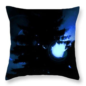 Ufo Landing Throw Pillow