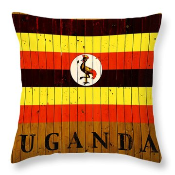 Uganda Country Flag Throw Pillow
