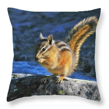 Uinta Chipmunk Throw Pillow