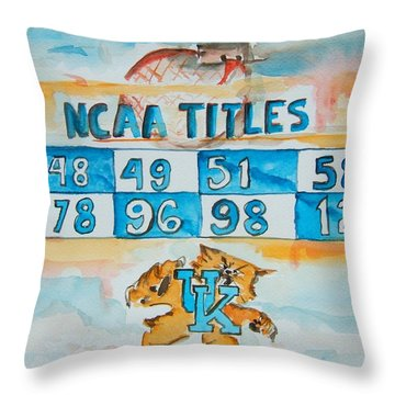 Uk Champs Throw Pillow