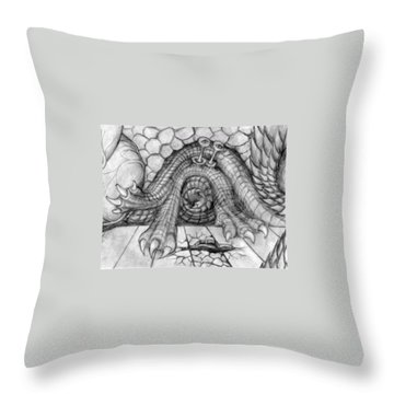 Ulcer Throw Pillow