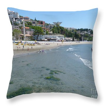 Ulcinj Beach - Montenegro Throw Pillow