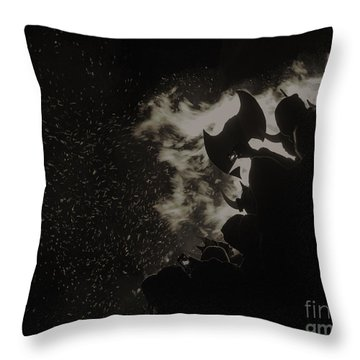 Throw Pillow featuring the photograph Ullr Fest by Bitter Buffalo Photography