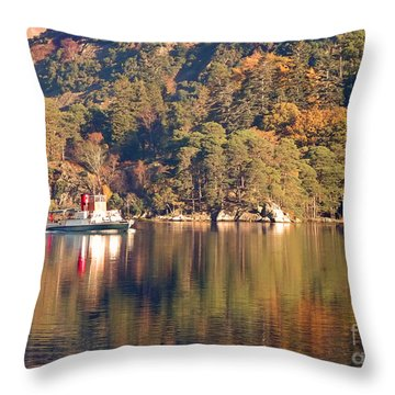 Ullswater Steamer Throw Pillow by Linsey Williams