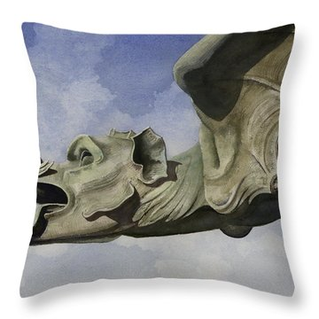 Ulmer Munster Gargoyle Throw Pillow