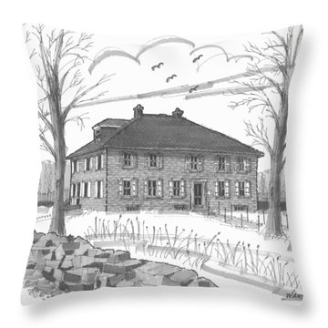 Ulster County Museum Throw Pillow