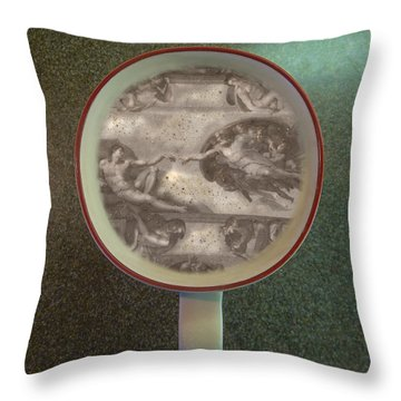 Throw Pillow featuring the photograph Ultimate Coffee Foam Art by John Norman Stewart
