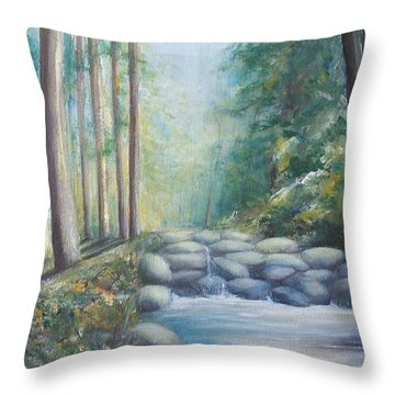 Throw Pillow featuring the painting Ulu Bendul by Jane  See