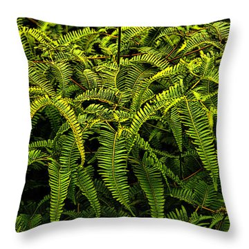 Uluhe Fern Throw Pillow