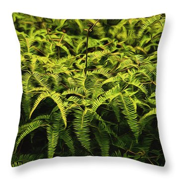 Uluhe Fern II Throw Pillow