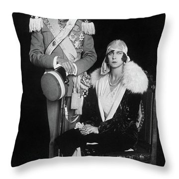 Umberto II And Marie Jose Throw Pillow by Granger