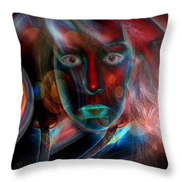 Throw Pillow featuring the digital art Umbilical Connection To A Dream  by Otto Rapp