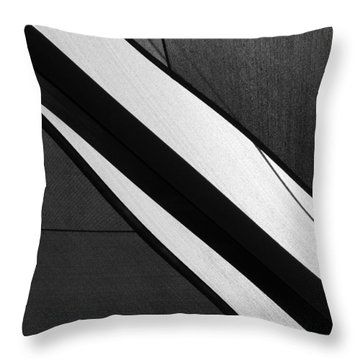 Umbrella Abstract Throw Pillow by Connie Fox