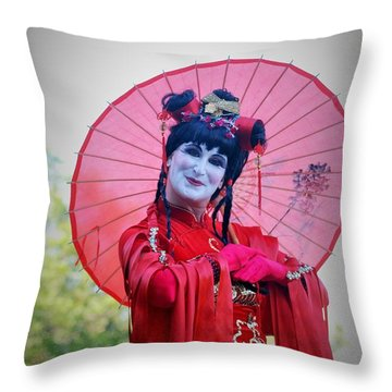 Umbrella Throw Pillow by George Mount
