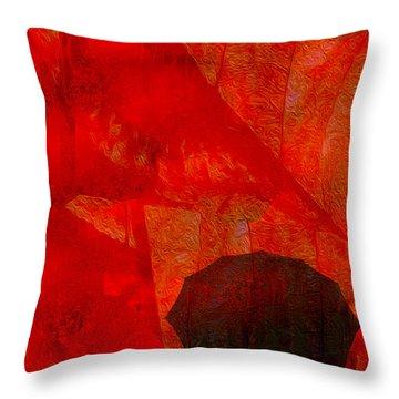 Umbrella Throw Pillow by Jack Zulli