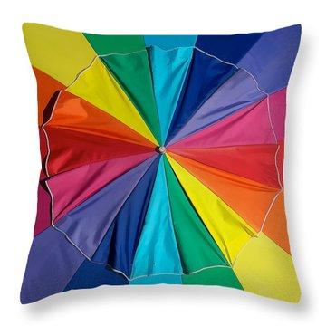 Umbrella Top Throw Pillow