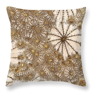 Umbrellas And Urchins Throw Pillow