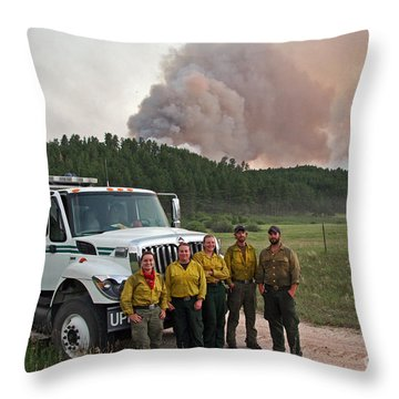 Umpqua Engine 25 On Myrtle Fire Throw Pillow