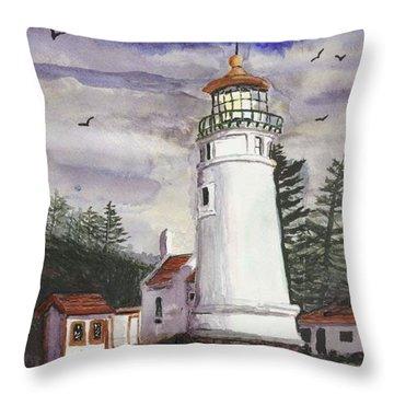 Umpqua Lighthouse Throw Pillow